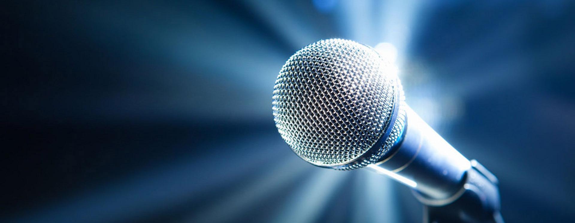 karaoke and pa microphone